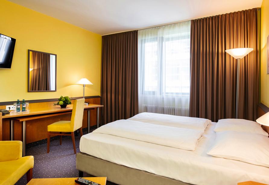 Beispiel eines Doppelzimmers im Plaza Hotel & Living in Frankfurt