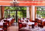 Lassen Sie sich in den fünf Restaurants kulinarisch verwöhnen.