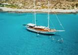 Blaue Reise rund um die Ionischen Inseln, Motorsegler