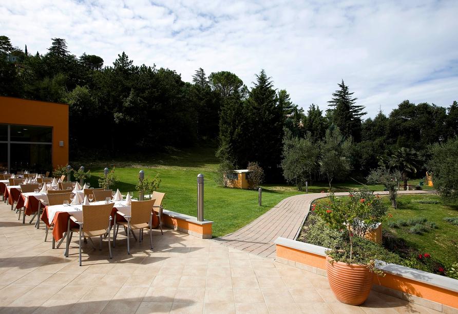 Hotel Salinera Resort, Slowenien, Terrasse