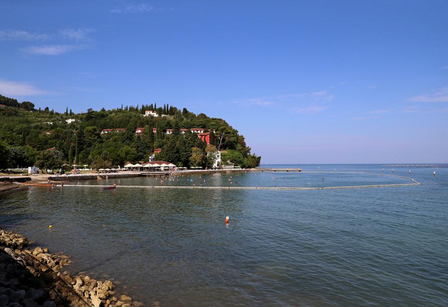 Hotel Salinera Resort, Slowenien, Hotelstrand