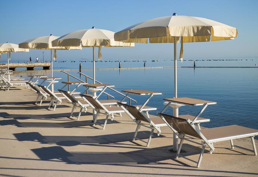 Hotel Salinera Resort, Slowenien, Sonnenliegen