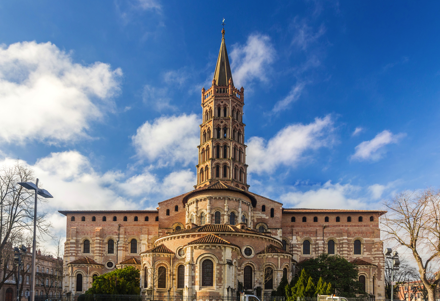 Die Basilika Saint-Sernin in Toulouse ist das größte noch erhaltene romanische Gebäude Europas.