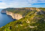 Die spannende Inselgruppe Malta entdecken, Dingli Klippen Malta