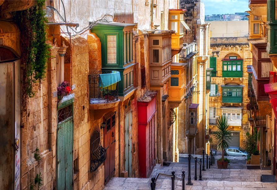 Die spannende Inselgruppe Malta entdecken, Straße von Valletta