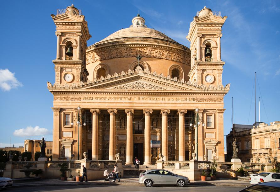 Die spannende Inselgruppe Malta entdecken, Rotunde von Mosta