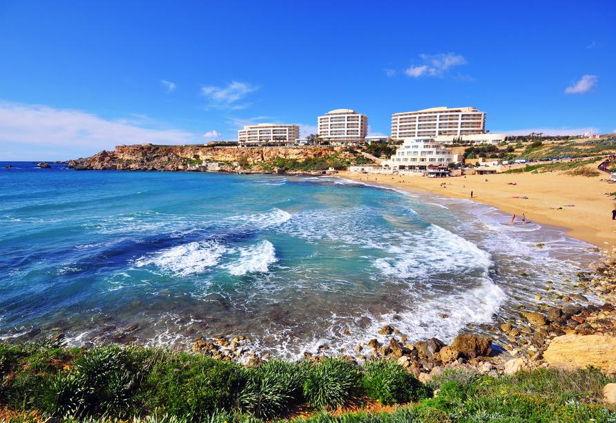Die spannende Inselgruppe Malta entdecken, Golden Beach Malta