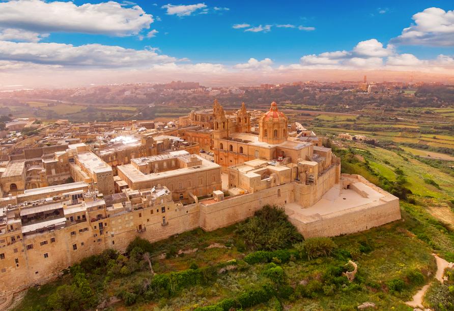 Die spannende Inselgruppe Malta entdecken, Altes Schloss Mdina, Malta