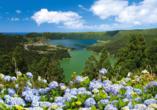 MS VASCO DA GAMA, Landschaft um Ponta Delgada