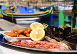 Die spannenden Inseln Malta und Gozo entdecken, Meeresfrüchte