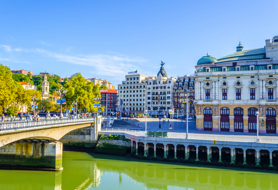 Bilbao ist eine der größten Städte im Norden Spaniens.