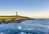 In A Coruña gibt es den ältesten noch funktionierenden Leuchtturm der Welt.