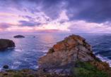 Ein malerischer Blick auf die Landzunge Cabo Peñas