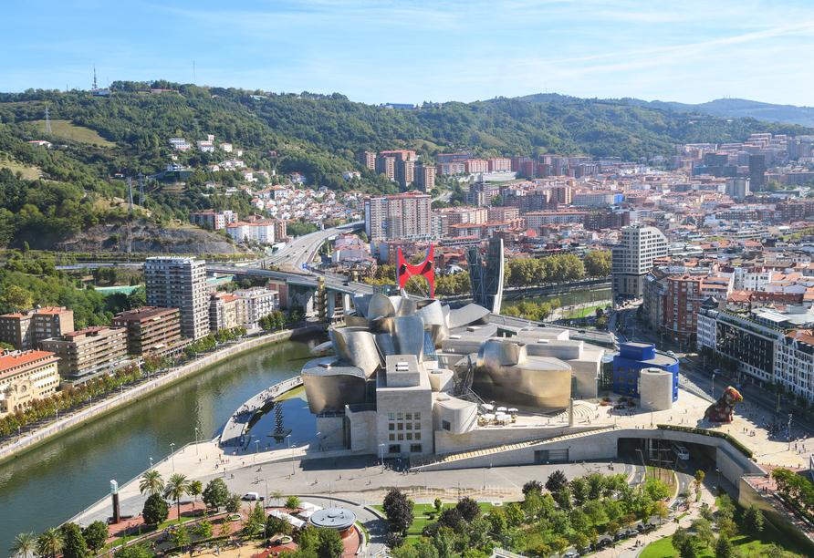 Ein Höhepunkt ist der Besuch des Guggenheim-Museums in Bilbao.