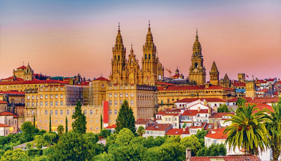 Die Kathedralkirche von Santiago de Compostela ist eine der beeindruckendsten Kirchen der Welt.