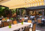 Hotel Pistono in Dieblich an der Mosel, Biergarten