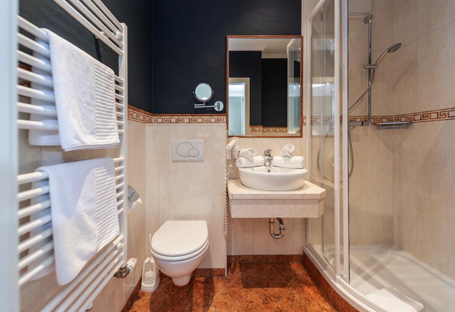 Beispiel eines Badezimmers im Hotel Erzherzog Johann