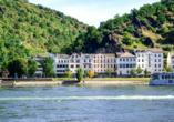 Rheinsteig, Sternwanderreise, Hotel Restaurant Colonius, St. Goarshausen, Hotel Colonius Außenansicht
