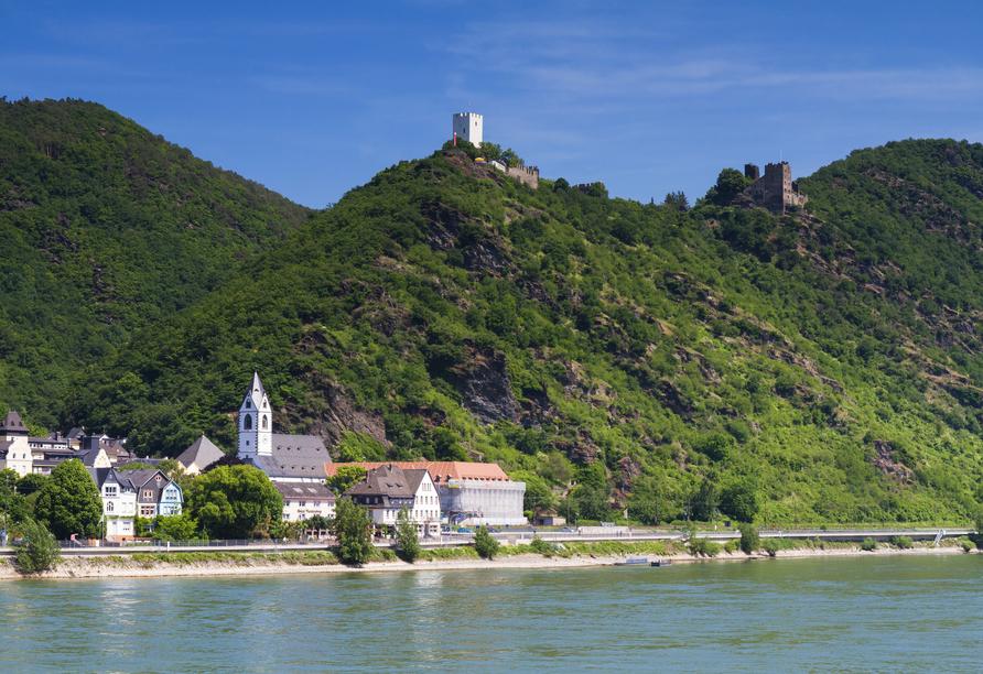 Rheinsteig, Sternwanderreise, Hotel Restaurant Colonius, St. Goarshausen,Burg Sterrenberg und Liebenstein