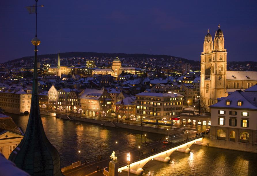 Hotel Sommerau-Ticino, Zürich bei Nacht