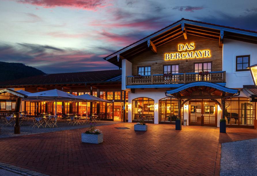 Das Bergmayr - Chiemgauer Alpenhotel am Abend