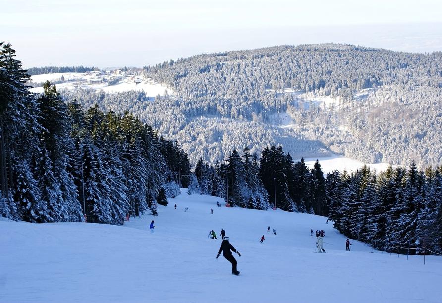 Predigtstuhl Resort in St. Englmar im Bayerischen Wald, Urlaub Pröller Skidreieck