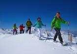 Hotel Ferienwelt Kristall in Rauris im Salzburger Land Bar, Schneeschuhwanderung