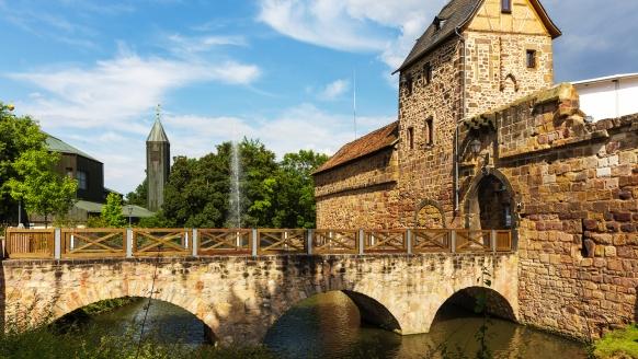 Die Reste der Wasserburg sind definitiv ein historisches Highlight Bad Vilbels.