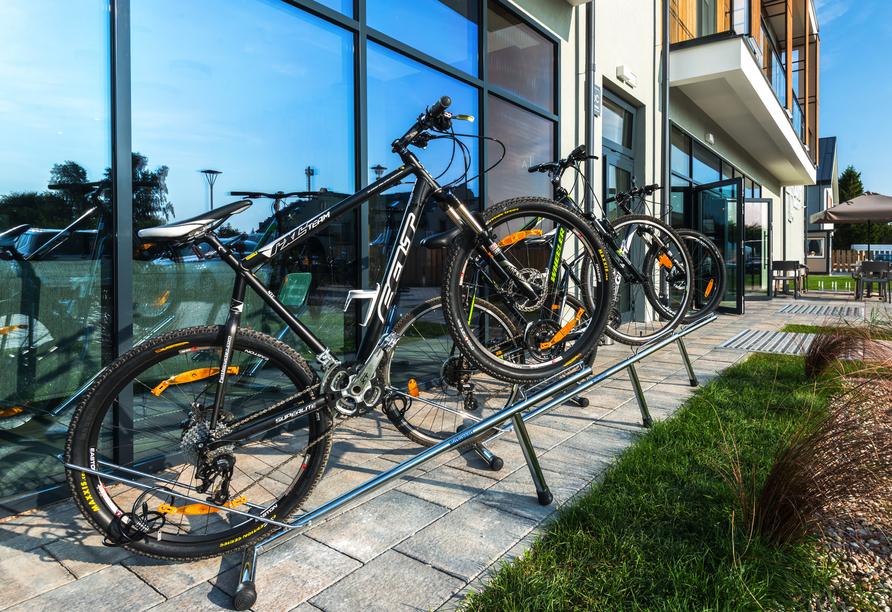 Saltic Resort & Spa, Gribow, Polnische Ostsee, Fahrrad fahren