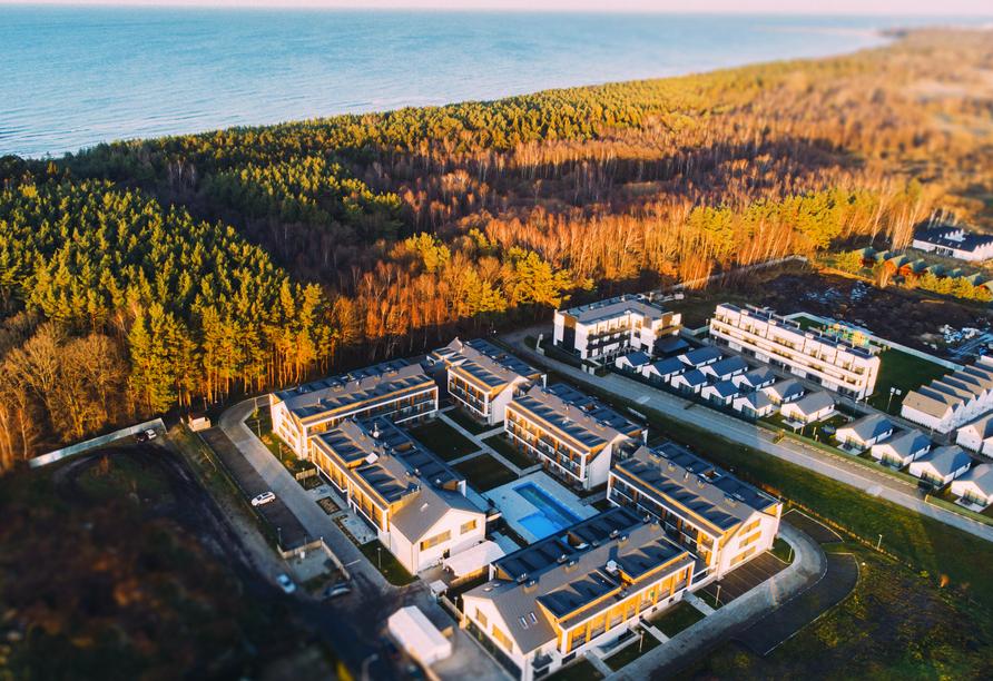 Saltic Resort & Spa, Gribow, Polnische Ostsee, Außenansicht