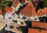 Luftaufnahme des Romantica Hotels Blauer Hecht