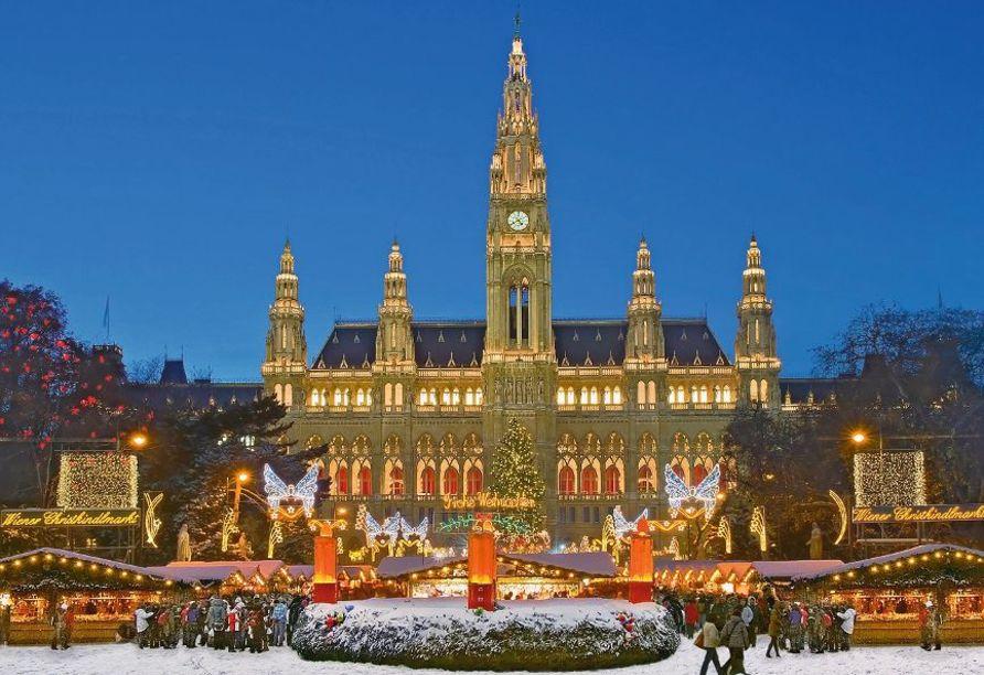 MS Carissima ab/an Passau, Wien zur Weihnachtszeit
