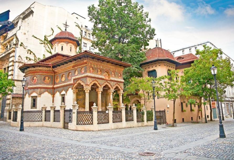 Auch das Kloster Stavropoleos besuchen Sie bei Buchung des optionalen Kultur- und Genusspakets.