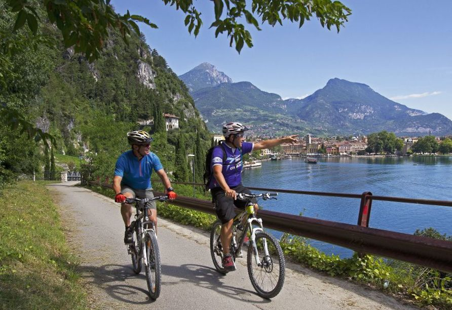 Parc Hotel Deva in Riva del Garda, Italien, Radfahren