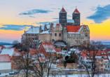 Hotelferienanlage Friedrichsbrunn, Quedlinburger Schloss im Winter