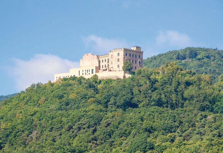 Das Hambacher Schloss an der Deutschen Weinstraße.