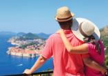 Blick auf Dubrovnik an der Adriaküste in Dalmatien