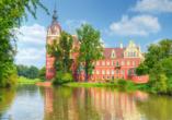 Neues Schloss im Fürst-Pückler-Park in Bad Muskau.
