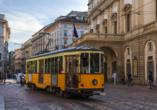 Mietwagenrundreise Norditalien, Straßenbahn Mailand