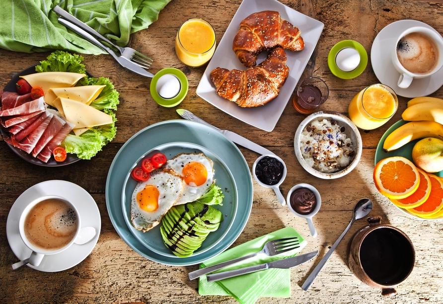 Freuen Sie sich auf leckeres Frühstück.