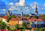 Die mittelalterliche Altstadt von Tallinn, der Hauptstadt Estlands, ist wunderschön.