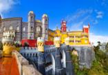 Der Nationalpalast von Sintra gilt als Wahrzeichen der Stadt.