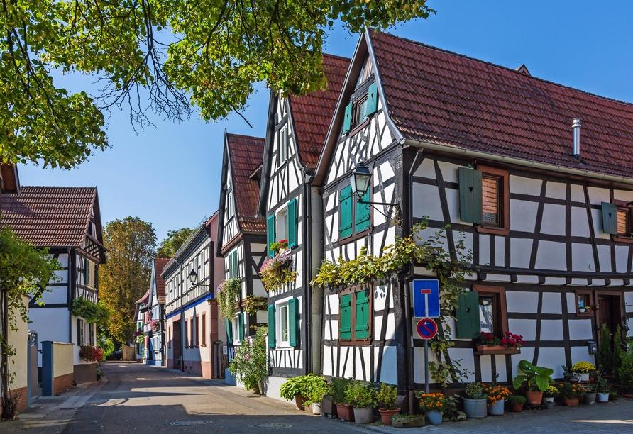 Die schöne Altstadt von Germersheim.