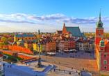 Freuen Sie sich auf eine große Rundreise, die in Warschau beginnt.