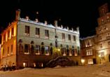 Das Osnabrücker Rathaus am Abend