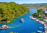 Wunderschönes Inselpanorama der Insel Paxos
